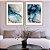 Conjunto com 02 quadros decorativos Abstrato Azul e Cinza - Imagem 4
