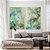 Conjunto com 02 quadros decorativos Abstrato Verde e Dourado - Imagem 1