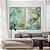 Conjunto com 02 quadros decorativos Abstrato Verde e Dourado - Imagem 4