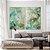 Conjunto com 02 quadros decorativos Abstrato Verde e Dourado - Imagem 2
