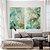 Conjunto com 02 quadros decorativos Abstrato Verde e Dourado - Imagem 3