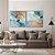 Conjunto com 02 quadros decorativos Abstrato Azul Gold - Imagem 4