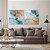 Conjunto com 02 quadros decorativos Abstrato Azul Gold - Imagem 2