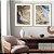 Conjunto com 02 quadros decorativos Arte Abstrata Fluída - Imagem 4