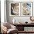 Conjunto com 02 quadros decorativos Arte Abstrata Fluída - Imagem 1