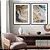 Conjunto com 02 quadros decorativos Arte Abstrata Fluída - Imagem 2