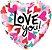 """Balão de Festa Microfoil - Love You Corações Convergindo - 18"""" 46cm - 01 Unidade - Rizzo - Imagem 1"""