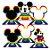 Decoração de Mesa Festa Mickey Arco-Íris - 06 unidades - Regina - Rizzo - Imagem 1