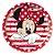 Prato Papel Redondo 18cm Festa Minnie Mouse 12 Unidades Regina Rizzo - Imagem 2