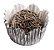 Forminha de Papel N° 3 Recortada Prata Metalizada com 50 un. Cod. 3215 Mago Rizzo Confeitaria - Imagem 1