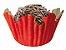 Forminha de Papel N° 3 Recortada Vermelha com 100 un. Cod. 3219 Mago Rizzo Confeitaria - Imagem 1