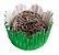 Forminha de Papel N° 4 Recortada Verde Metalizada com 50 un. Cod. 3230 Mago Rizzo Confeitaria - Imagem 1