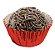Forminha de Papel N° 4 Vermelha Metalizada com 50 un. Cod. 3108 Mago Rizzo Confeitaria - Imagem 1