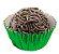 Forminha de Papel N° 4 Verde Metalizada com 50 un. Cod. 3091 Mago Rizzo Confeitaria - Imagem 1