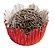 Forminha de Papel N° 5 Recortada Vermelha Metalizada com 50 un. Cod. 3268 Mago Rizzo Confeitaria - Imagem 1