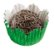 Forminha de Papel N° 5 Recortada Verde Metalizada com 50 un. Cod. 3256 Mago Rizzo Confeitaria - Imagem 1