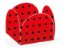 Forminha 4 Pétalas Poá Vermelho e Preto Cod. 10.64 com 50 un. Nc Toys Rizzo Confeitaria - Imagem 1
