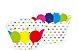 Wrapper para CupCake Tradicional Balão Colorido Cod. 28.3 com 12 un. Nc Toys Rizzo Confeitaria - Imagem 1