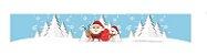 Cinta Mini Panetone Noel Neve com 5 un. Erika Melkot Rizzo Confeitaria - Imagem 1