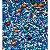 Fairy Sprinkles Blue Rocks Especial 150 gr Rizzo Confeitaria - Imagem 1
