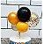 Topo de Bolo Mini Balões Dourado com Laranja  Rizzo Confeitaria - Imagem 2