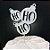 Topo de Bolo Ho Ho Ho Glitter Prata Sonho Fino Rizzo Confeitaria - Imagem 1