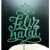 Topo de Bolo Feliz Natal Glitter Verde Sonho Fino Rizzo Confeitaria - Imagem 1