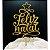 Topo de Bolo Feliz Natal Glitter Dourado Sonho Fino Rizzo Confeitaria - Imagem 1