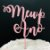 Topo de Bolo Meu 1º Ano Glitter Rosa Sonho Fino Rizzo Confeitaria - Imagem 1