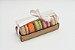 Embalagem para 5 Macarons - Kraft - Ref. CR5MK -  12,5x4,5x5 - 6 Unidades - San Felipo - Rizzo Confeitaria - Imagem 1