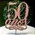 Topo de Bolo 50 Anos Glitter Rose Gold Sonho Fino Rizzo Confeitaria - Imagem 1