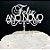 Topo de Bolo Feliz Ano Novo Acrilico Branco Sonho Fino Rizzo Confeitaria - Imagem 1
