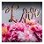 Topo de Bolo Love Glitter Rose Gold Sonho Fino Rizzo Confeitaria - Imagem 1