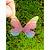 Enfeite decorativo Borboleta Tecido Tie Dye - 10uns - Rizzo Confeitaria - Imagem 1