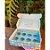 Caixa para 8 brigadeiros com 10 un. Que Seja Doce Azul Cromus Rizzo Confeitaria - Imagem 1