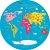 Adesivo Mapa-Múndi Redondo - Era Uma Vez - Imagem 2