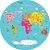 Adesivo Mapa-Múndi Redondo - Era Uma Vez - Imagem 3