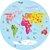 Adesivo Mapa-Múndi Redondo - Era Uma Vez - Imagem 4