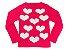 Blusa de Tricot Corações Gola Canoa - Imagem 1