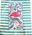 Pano de Prato Retrô Vintage Flamingo Sorvete e Donuts felpudo - Imagem 2