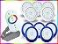 Kit Completo Iluminação Piscina Enertech LED RGB 5x18 Watts - 8 cm - Imagem 2