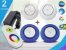 Kit Iluminação Piscina Enertech LED RGB 2x9 Watts - 12 cm - Imagem 1