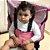 Cadeirinha Assento Portátil para Bebê em Tecido Rosa Poa - Imagem 2