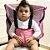 Cadeirinha Assento Portátil para Bebê em Tecido Rosa Poa - Imagem 1
