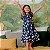 Vestido infantil Petit Cherie natural orgânico azul marinho - Imagem 1