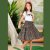 Conjunto infantil Petit Cherie natural orgânico blusa saia midi preto - Imagem 1