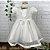 Vestido de batizado bebê Petit Cherie em tule com renda e cristais - Imagem 2