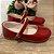 Sapato infantil boneca verniz vermelho Xuá Xuá tamanho 21 - Imagem 1