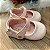 Sapatinho de bebê infantil boneca verniz rosa claro tamanho 17 - Imagem 1