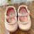 Sapatinho de bebê infantil boneca verniz rosa claro tamanho 17 - Imagem 3